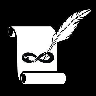 Feather and scroll icon